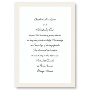 Pearl Border Classic Wedding Invitations