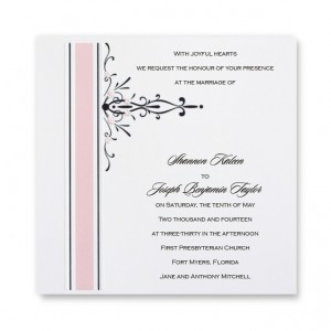 Petal Pink Square Wedding Invitations