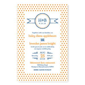 Petite Dots Letterpress Wedding Invitations