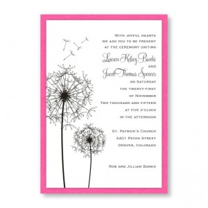Pick a Posy Flower Wedding Invitations