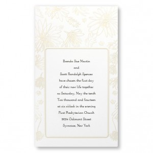 Playful Daisies Pearl Wedding Invitations