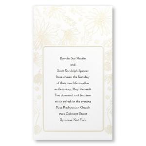 Playful Daisies Pearl Wedding Invitations