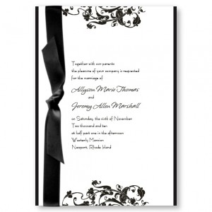 Prestige Flourish Wedding Invitations