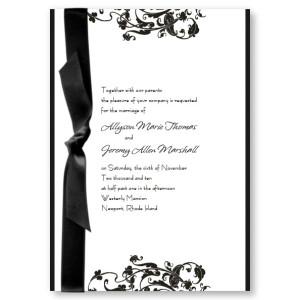 Prestige Flourish Wedding Invitations