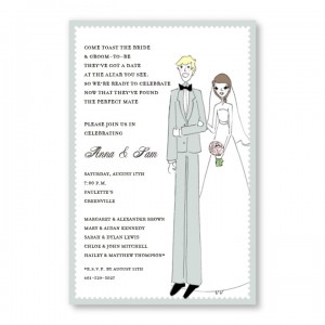 Pretty Pair Invitations