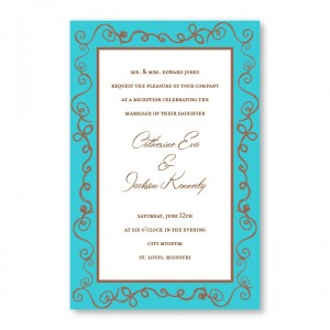 Pretty Twisty Wedding Invitations