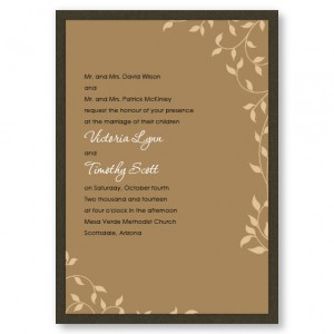 Pretty Vines II Nature Wedding Invitations
