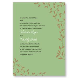 Pretty Vines Wedding Invitations