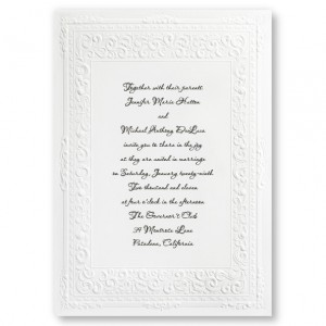 Queen Victoria Classic Wedding Invitations