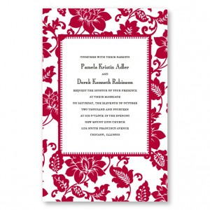 Radiant Blooms Letterpress Wedding Invitations
