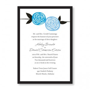 Radiant Roses Wedding Invitations