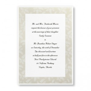 Regal Fern Nature Wedding Invitations