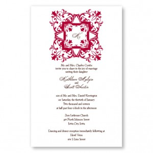 Regal Frame Initial Letterpress Wedding Invitations