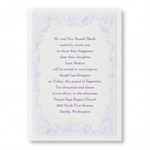 Regency Romance Budget Wedding Invitations