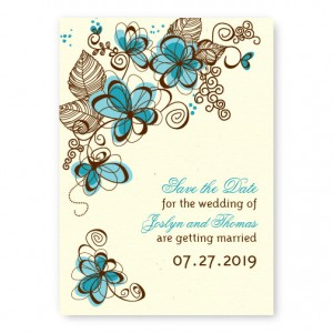 Romance in Bloom Save The Date Cards