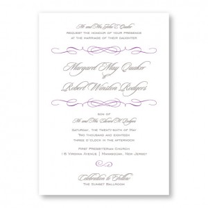 Romance Modern Wedding Invitations