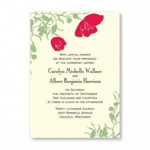 Romantic Flower Petals Wedding Invitations