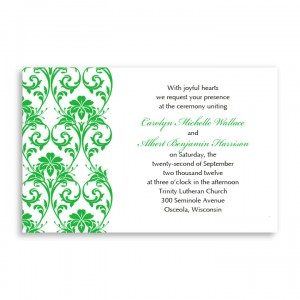 Romantic Vines Letterpress Wedding Invitations