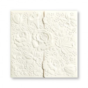Rosemont Floral Embossed Wedding Invitations