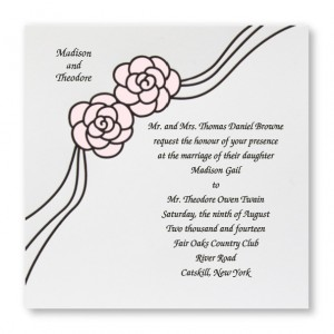 Rosette Budget Wedding Invitations