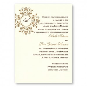 Roxanne Monogram Wedding Invitations
