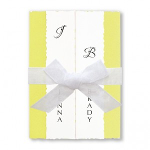 Ruffles & Bows Yellow Wedding Invitations