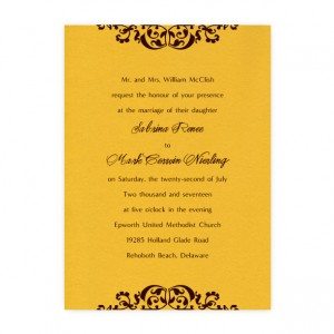 Sabrina Scroll Wedding Invitations