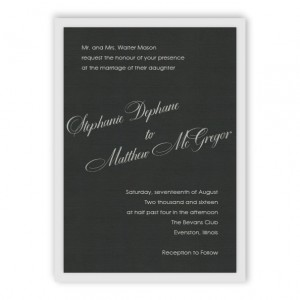 Sadie 2-Layer Thermography Wedding Invitations