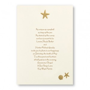 Sand and Sea Beach Wedding Invitations