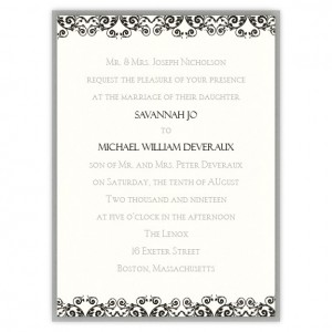 Savannah 2-Layer Scroll Wedding Invitations