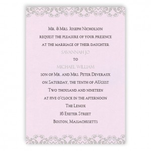 Savannah Scroll Wedding Invitations