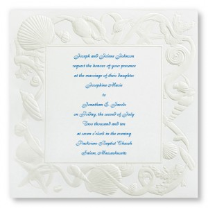Sea of Love Beach Wedding Invitations