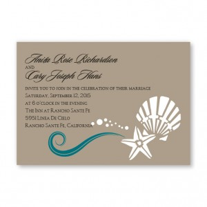 Seashell Love Wedding Invitations