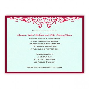 Serena 2-Layer Thermography Wedding Invitations