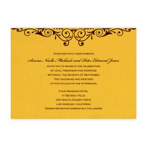 Serena Scroll Wedding Invitations