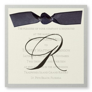 Serenade Silver Wedding Invitations