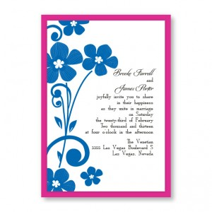 Serenity Flowers Wedding Invitations
