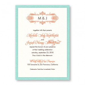 Shannon 2-Layer Monogram Wedding Invitations