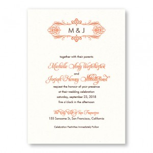 Shannon Monogram Wedding Invitations