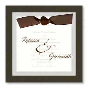 Sheer Classic Unique Wedding Invitations