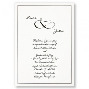 Simple Beauty Classic Wedding Invitations