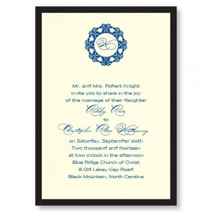 Simplicity Initial Wedding Invitations