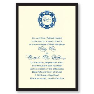 Simplicity Initial Wedding Invitations
