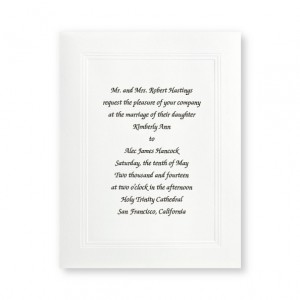 Small Social Graces White Wedding Invitations