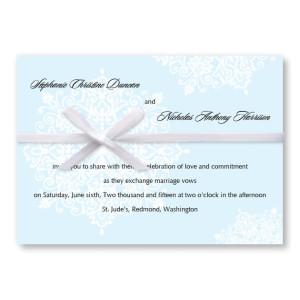 Snowflake Winter Wedding Invitations