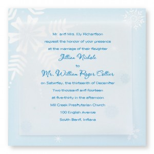 Snowy Bliss Winter Wedding Invitations