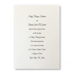 Sophisticated Stripes Pearl Wedding Invitations