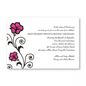 Spring Fling Floral Wedding Invitations