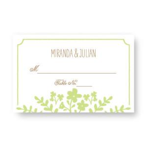 Spring Flora Seating Cards