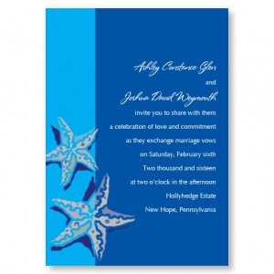 Starfish Beach Wedding Invitations